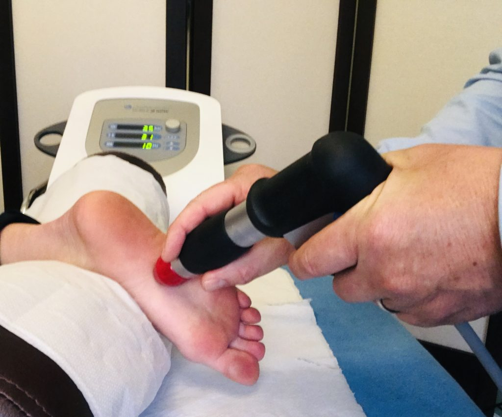 Sockwave therapy on foot plantar fascitiis